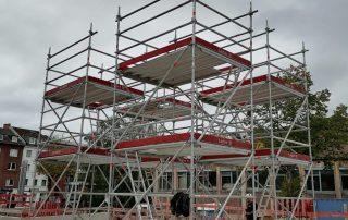 Sonderkonstruktion Rollgerüste und kranbare Gerüste - STEBU Gerüstbau GmbH in Essen- STEBU Gerüstbau GmbH in Essen