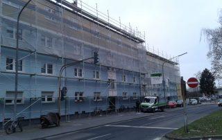 Fassadengerüste mit Verkleidung - STEBU Gerüstbau GmbH in Essen