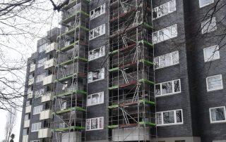 Fassadengerüste Mehrfamilienwohnhaus - STEBU Gerüstbau GmbH in Essen