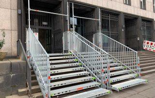 Sonderkonstruktion zwei Fluchttreppentürme - STEBU Gerüstbau GmbH in Essen